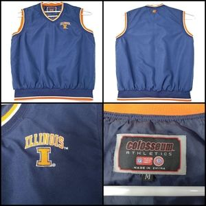 Illinois University pullover, size M, color blue/o